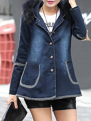 large fur collar Jacket