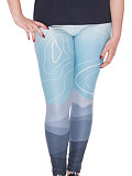 Image of Fashion stretch plus size casual printed leggings