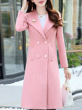 Image of Woolen jacket women mid-length thick autumn and winter coat