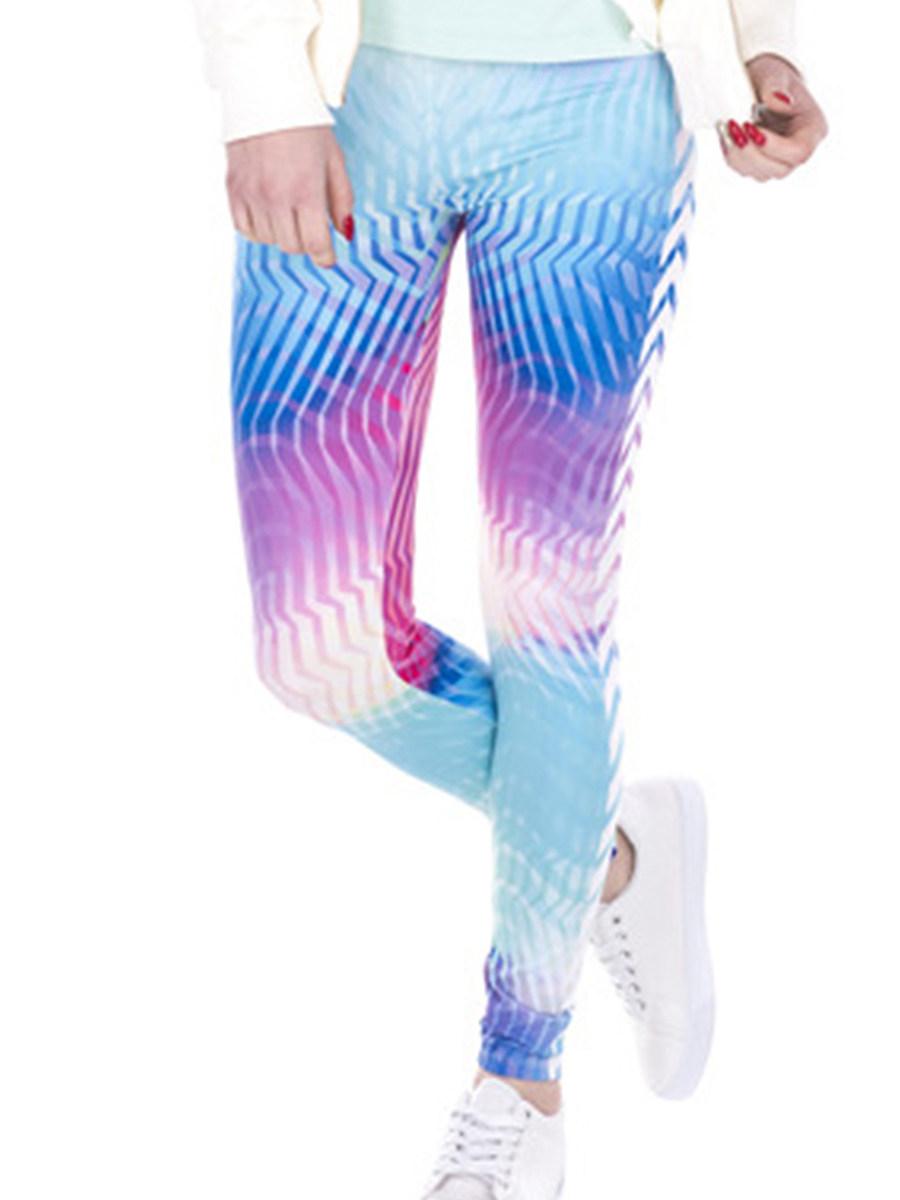 3D digital fashion colorful printing leggings