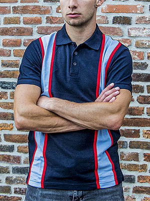 50s retro short-sleeved polo shirt, 27473624, BERRYLOOK  - buy with discount