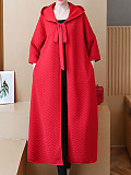 Image of Cape coat autumn and winter mid-length coat quilted