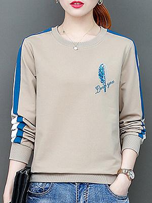 Women's Casual Print Loose Sweatshirt фото