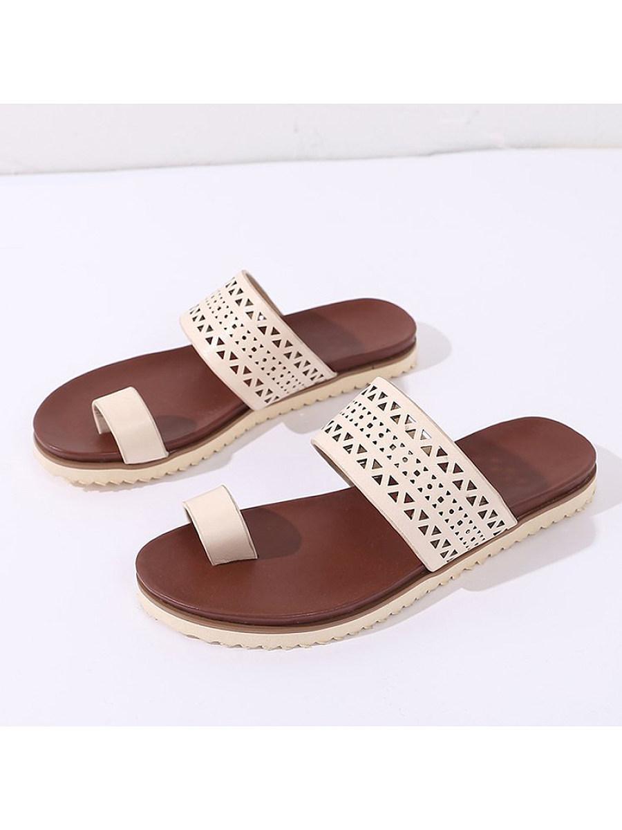 BerryLook Women's hollow flat slippers