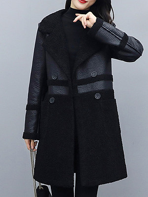 Thick Woolen Leather Jackets Can Be Worn On Both Sides