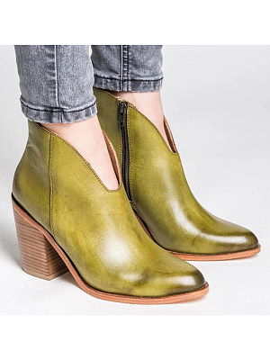 BERRYLOOK / Women Fashion Pointed Side Zipper Ankle Boots