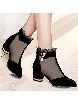 Lace screen gauze sandals, 23619251