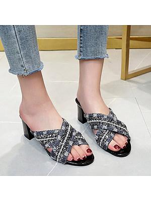 Cross strap high heel sandals фото