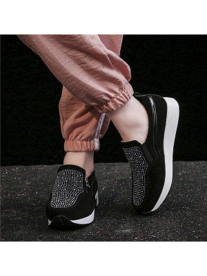 Women's Fashion Thick Side Zip Casual Shoes, 10642604