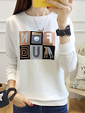 Image of Loose Letter Color matching Long sleeves print sweatshirt