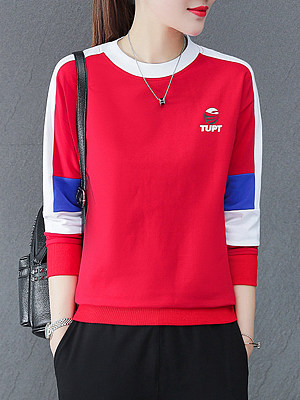 Fashion Colorblock Print Sweatshirt, 11404594