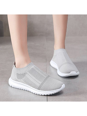 Casual Breathable Solid Color Women Sneakers, 10965543