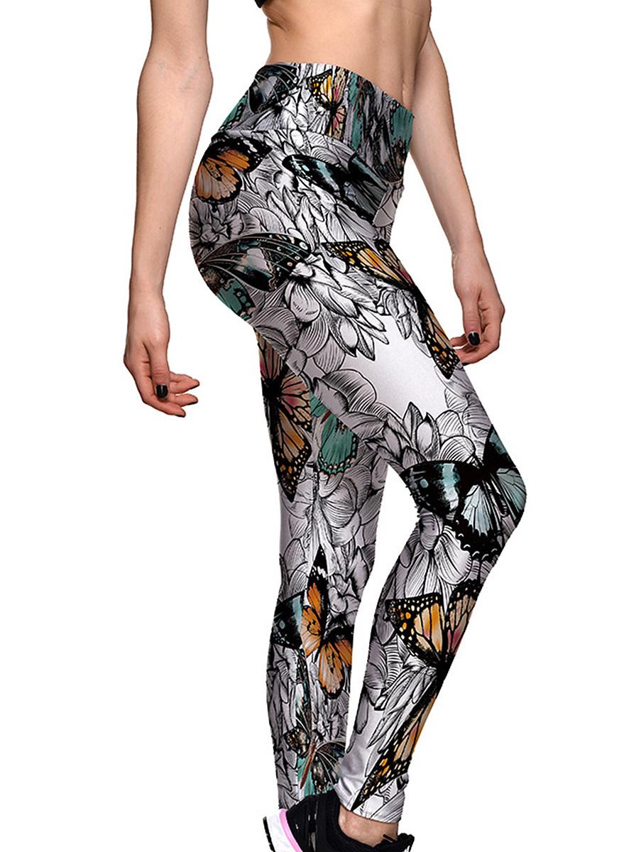 Printed trousers yoga pants leggings