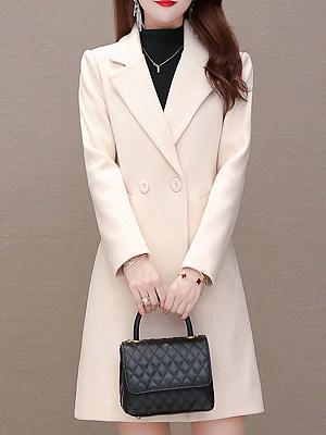 Women'S Woolen Coat Mid-Length