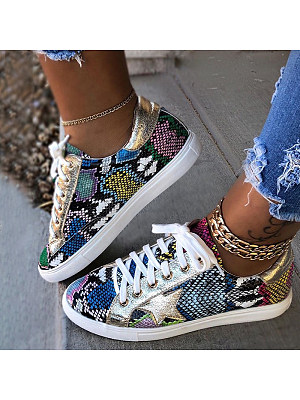 Fashion stitching lace-up sneakers, 11139116