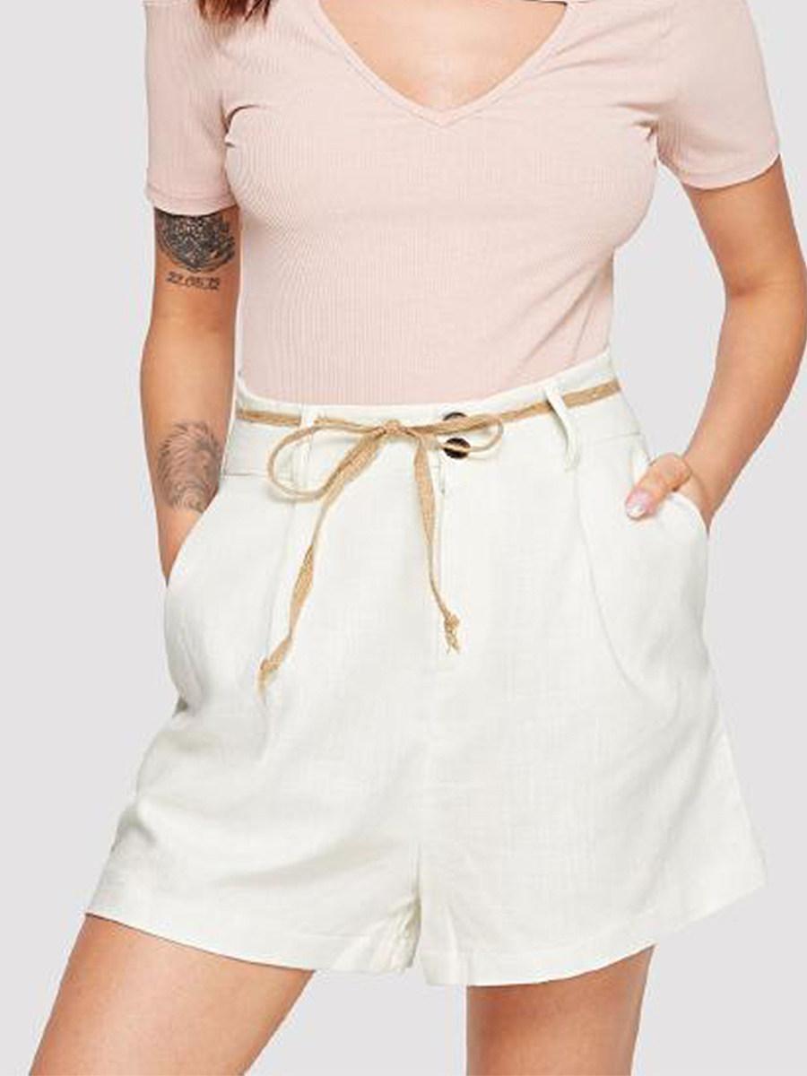 BerryLook Casual wild solid color wide leg shorts