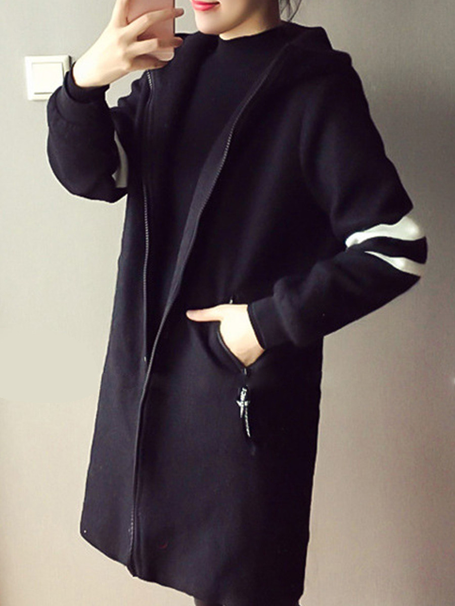 Mid-length trench coat cardigan Coat