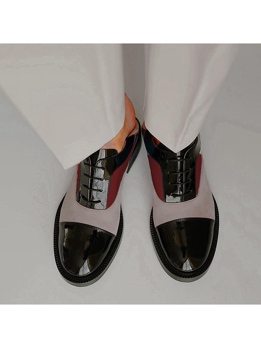 BerryLook Women's comfortable low heel square heel casual shoes