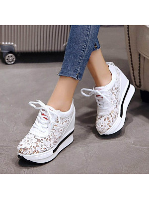 Women's wedge platform sneakers, 23827807