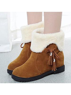 Cute Tassel Flat-Bottomed High Boots