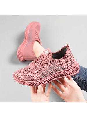 shoes women's shoes ins tide shoes net red new flying woven breathable soft bottom sports shoes