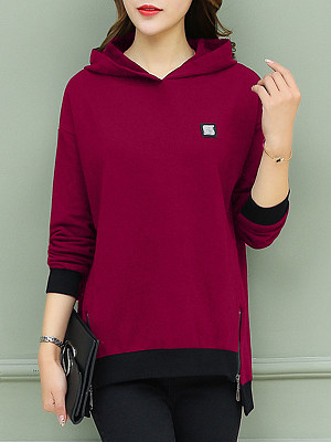 Women's Thick Warm Loose Thin Hooded gender:female, season:autumn,winter,spring, collar:sweater with cap, texture:cotton, sleeve_length:long sleeve, sleeve_type:regular sleeve, style:japan and south korea, collar_type:hat collar, dress_occasion:daily,leisure, bust:118,clothing length:72,
