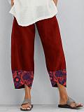 Image of Fashion print stitching wide-leg pants