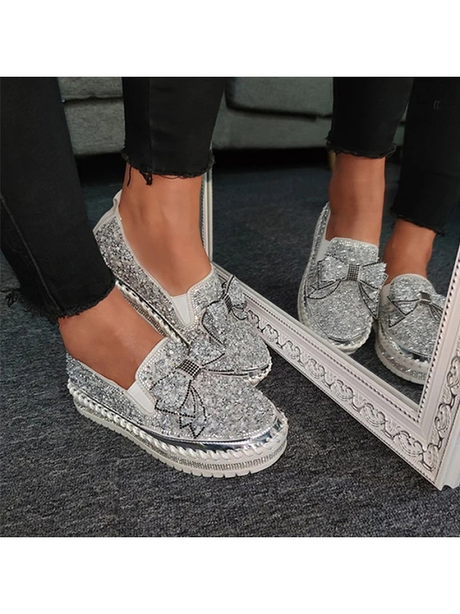 Women's  flat bottom rhinestone fashion Sneakers