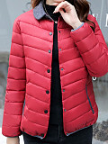 Image of Down padded jacket, large size, short, light and thin, small padded jacket, winter coat