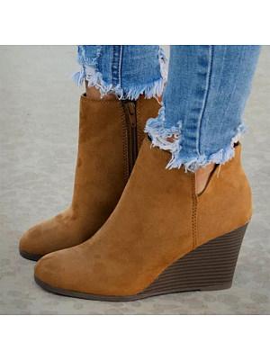 berrylook Women's wedge short boots