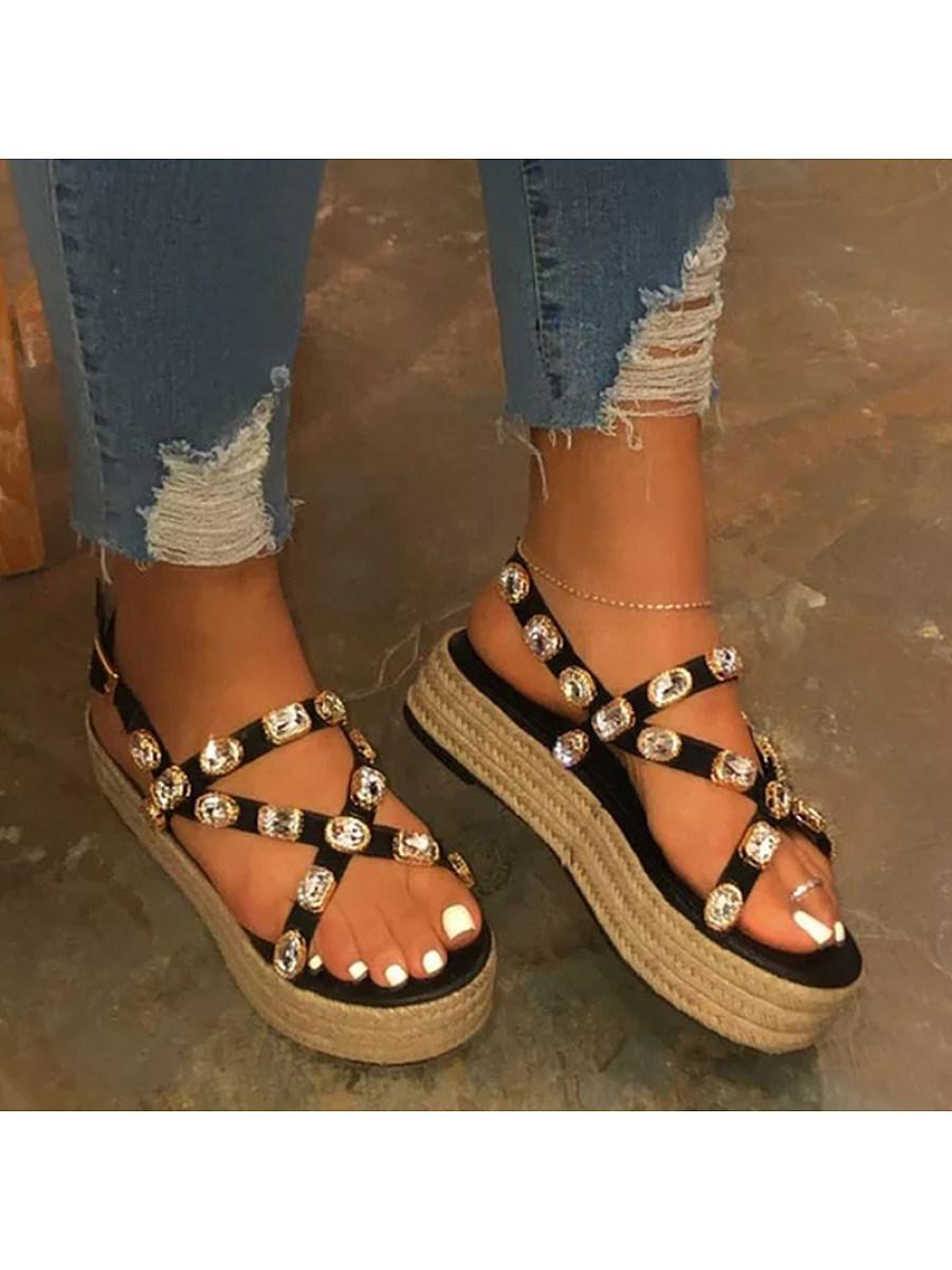 BerryLook Women's platform Wedge Sandals