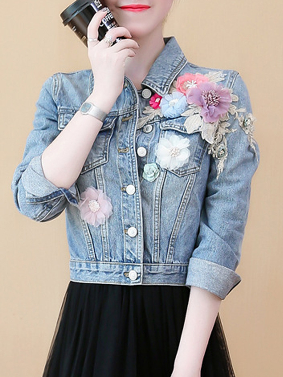 Fashion Short Embroidered Jacket