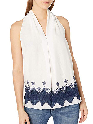 V-neck sleeveless blouse, 11259712