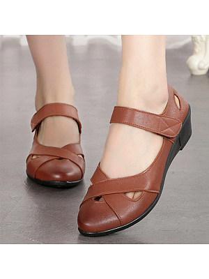 Women's Casual Mid Heel Sandals