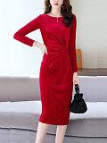 New fashion temperament velvet dress