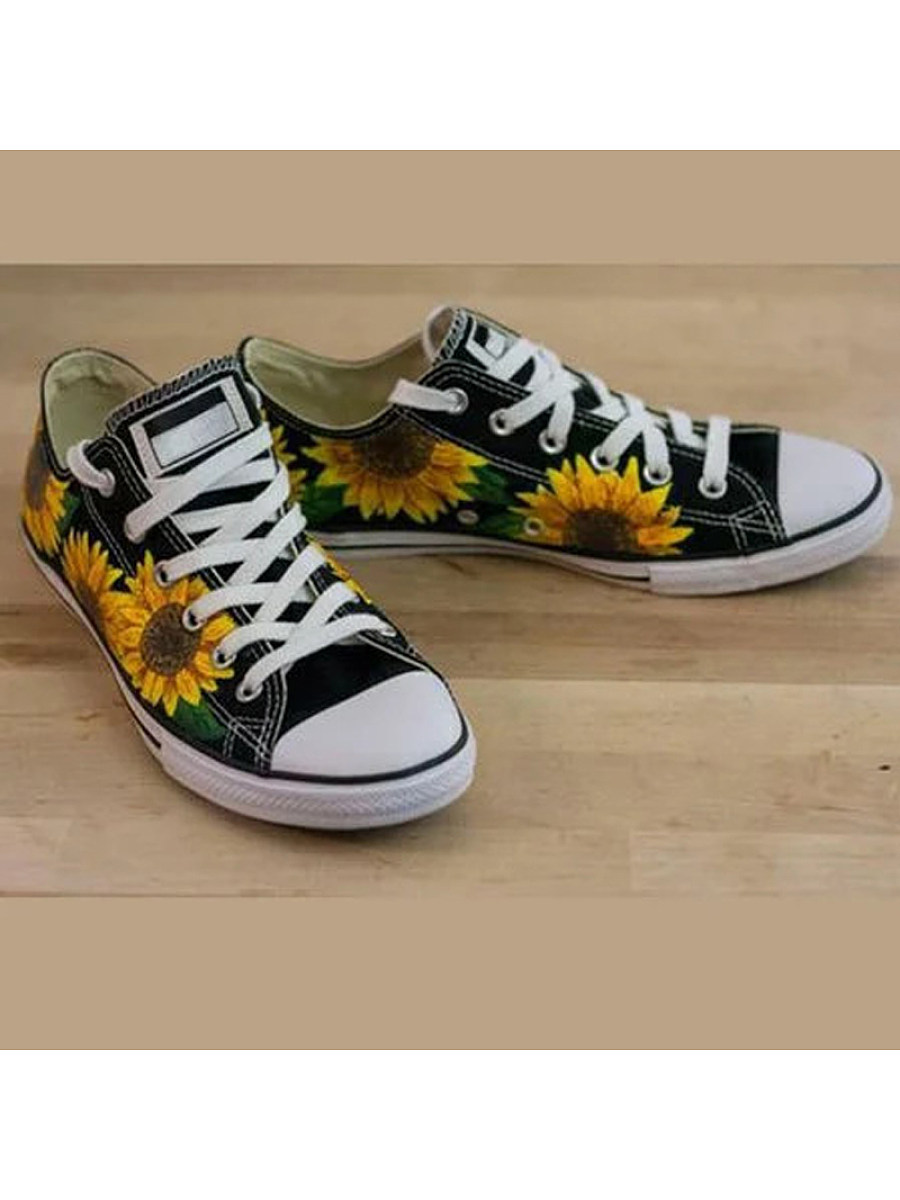 Women's sunflower low-top women's canvas shoes
