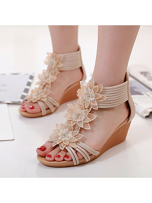Roman Style Vacation Seaside Comfortable Roman Shoes, 11304038