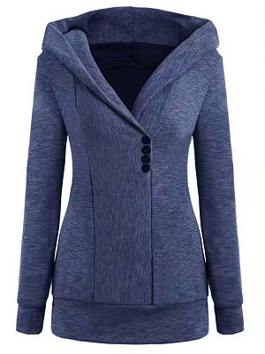 Fashion Long Sleeve Hooded Coat, 11246566