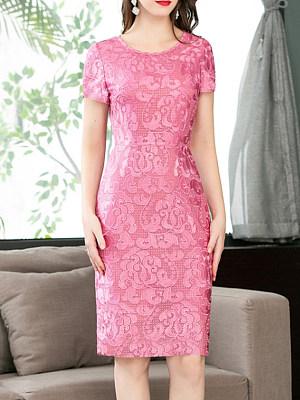 Round Neck Print Bodycon Dress фото