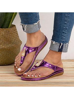 Fashion rhinestone flip-flops casual female slippers, 11333041