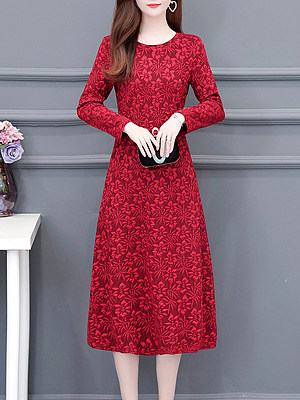 Berrylook Ladies fashion round neck flower dress shoping, clothes shopping near me, white shift dress, floral shift dress