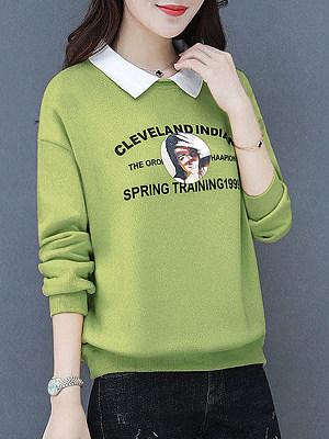 Fashion Patchwork Sweatshirt фото