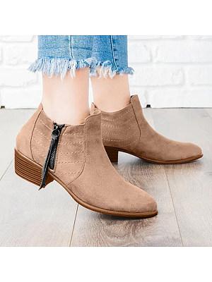BERRYLOOK / Women's  Low Heel Ankle Boots
