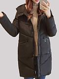 Image of Hooded Mid-Length Padded Jacket