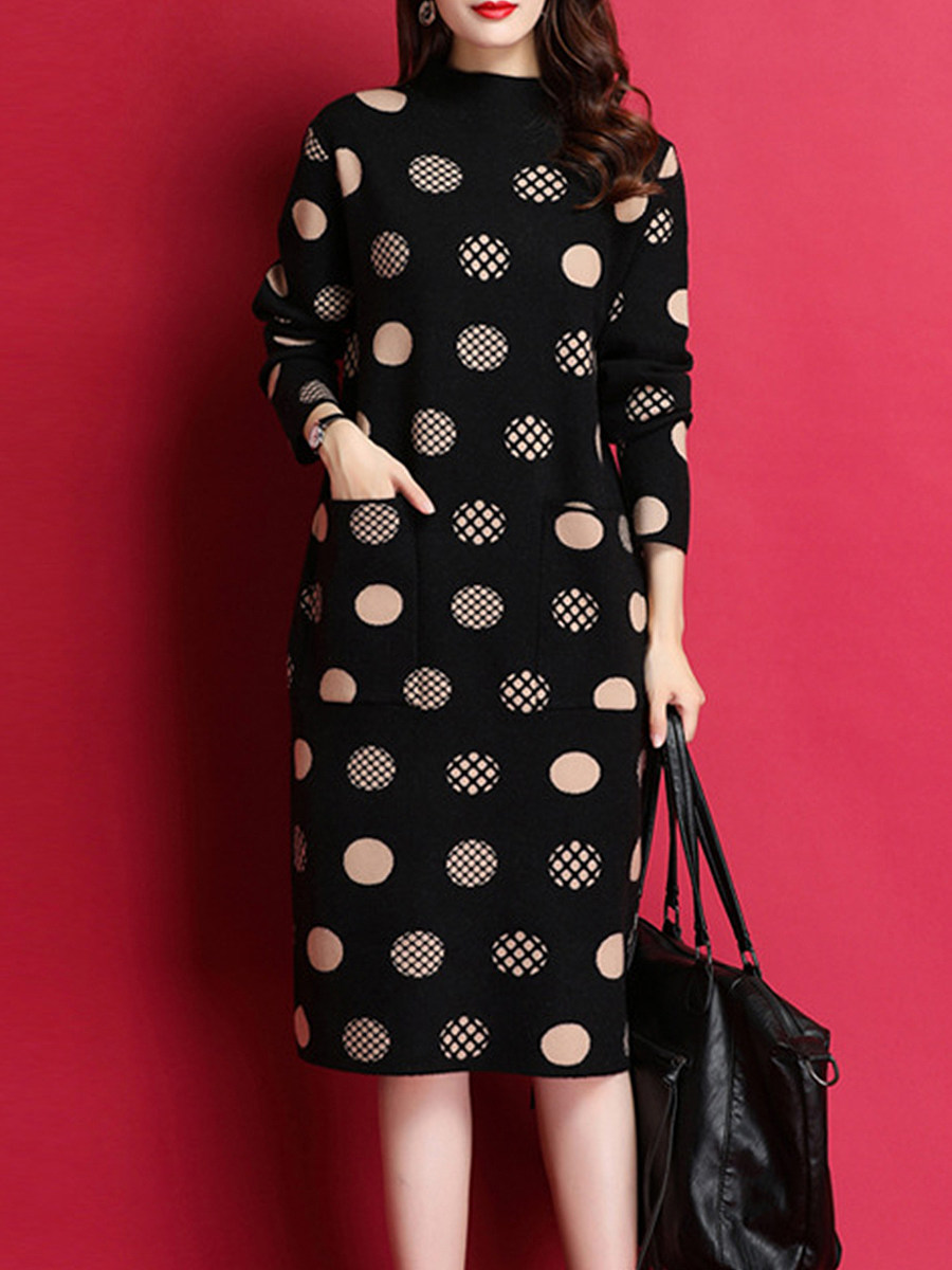 Women's Print Long Sleeve Dress - from $20.95