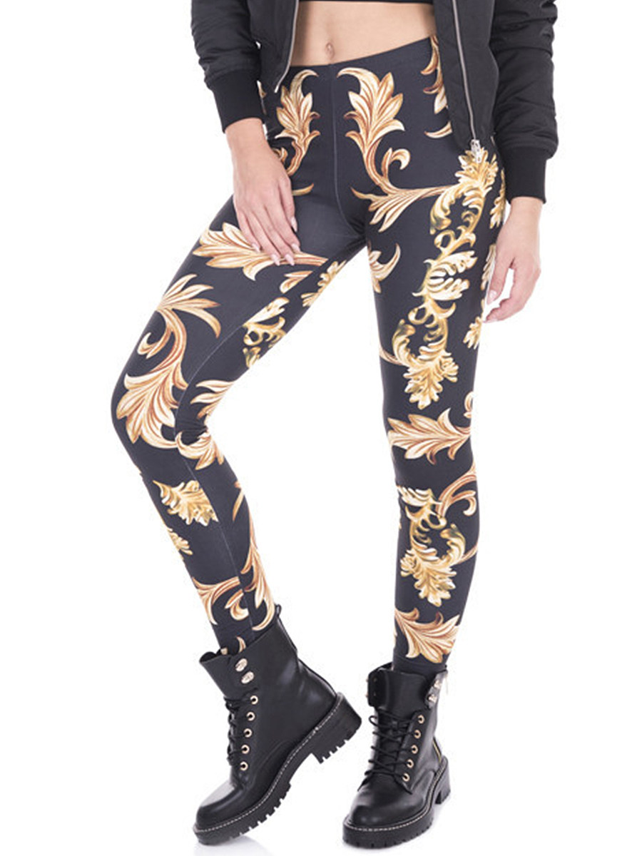 3D digital printing casual stretch leggings
