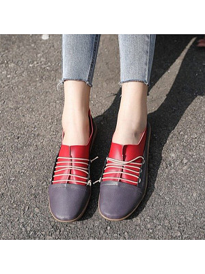 Contrast flat shoes, 10381068