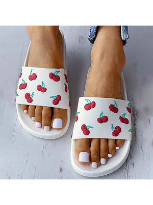 Women's fashion flat bottom slippers фото