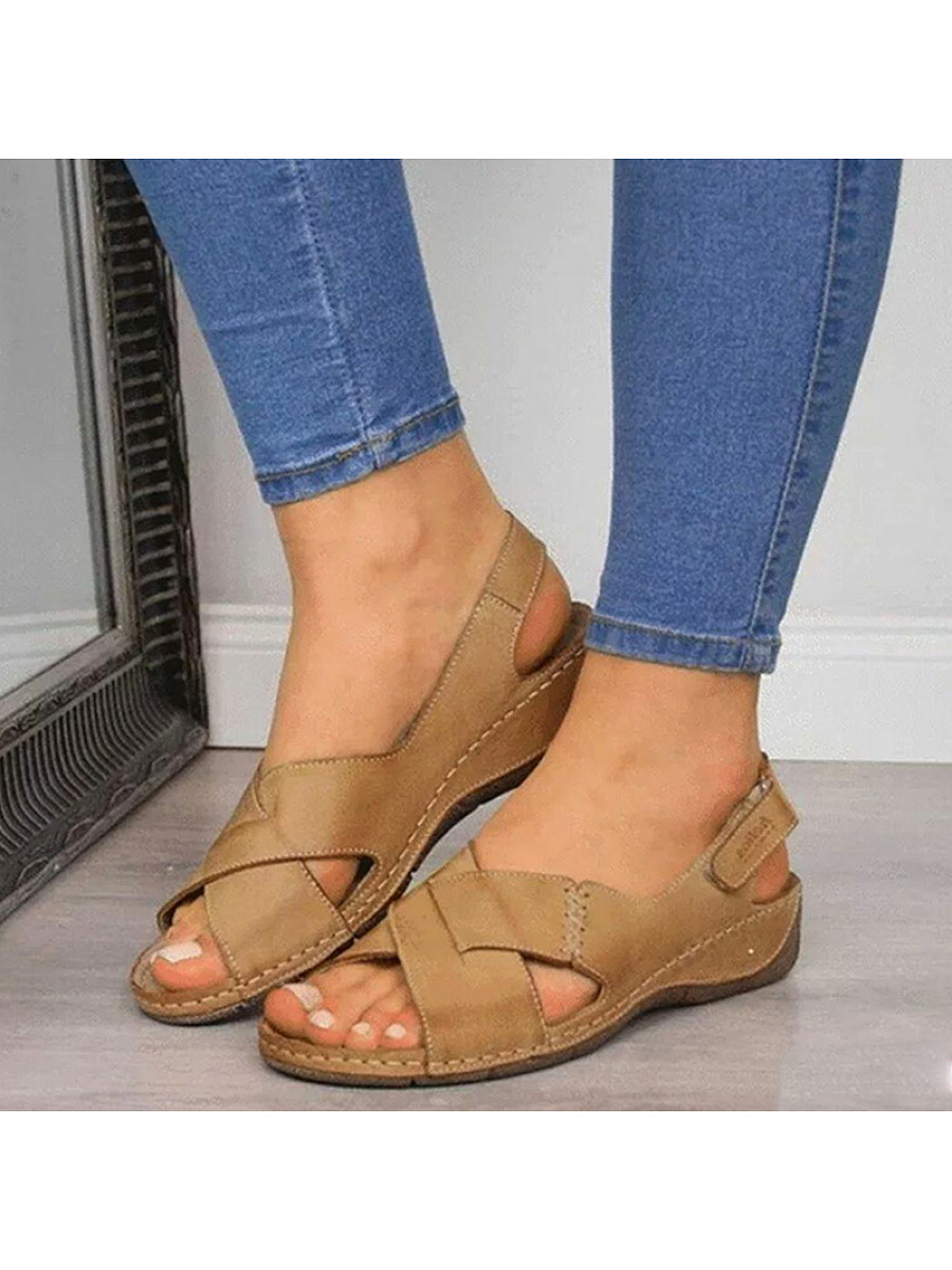 BerryLook women's fish mouth retro sandals