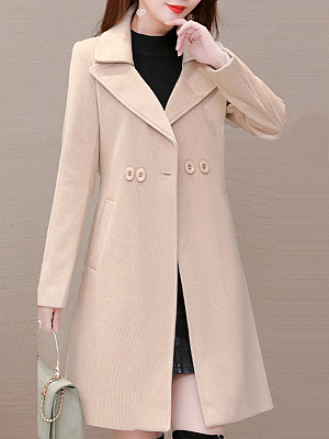 Women's Casual Solid Color Slim Coat, 10719094